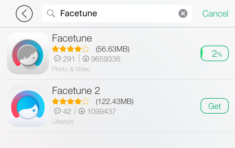 Facetune Free Download from TUTUAPP